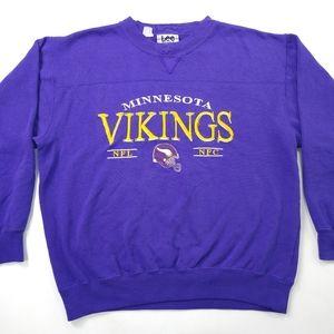 VTG Lee Sport Mens Large L Grey Minnesota Vikings